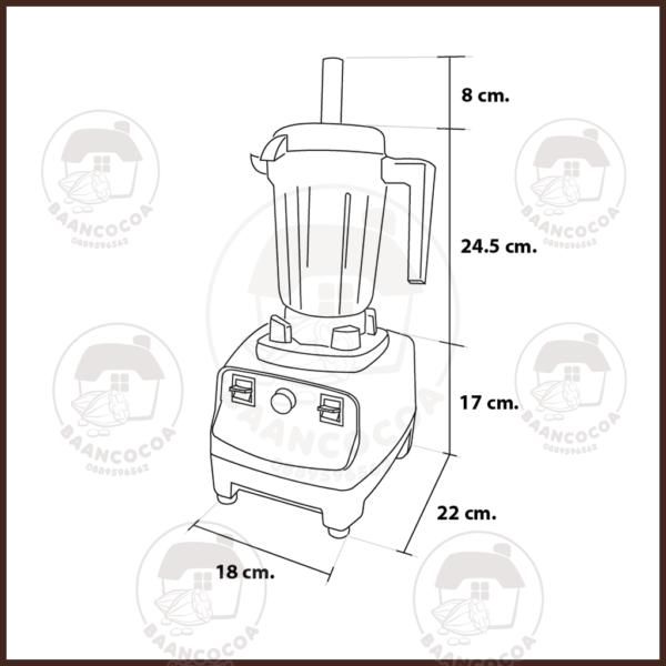 เครื่องปั่นน้ำผลไม้ ปั่นกาแฟ ปั่นน้ำแข็ง ปั่นผักผลไม้ ปั่นสมูทตี้ อุปกรณ์ร้านกาแฟ เครื่องปั่นน้ำผลไม้